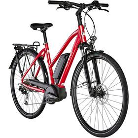 Ortler Bozen E-trekkingcykel Trapez rød